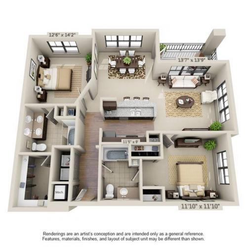 Fountainbleu Floor Plan Image