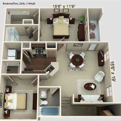 Boulevard 2 Floor Plan Image