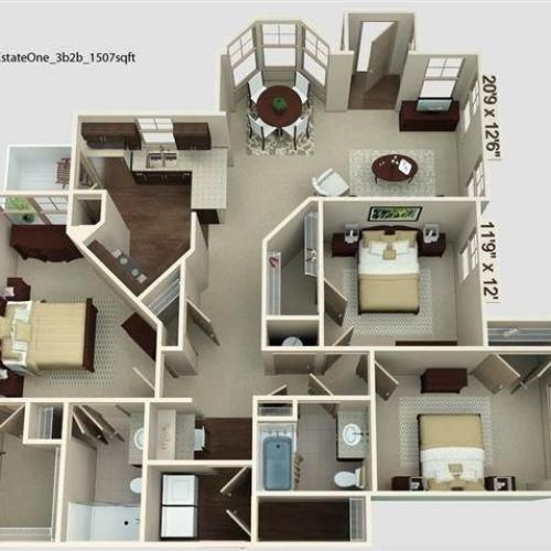 Estate 1 Floor Plan Image