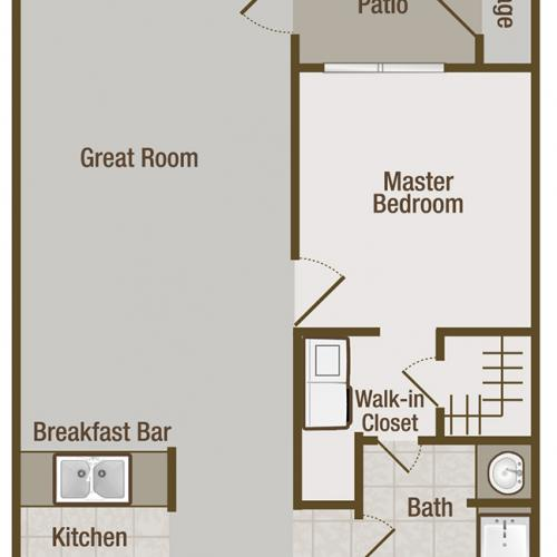 Picture is Jasmine One Bedroom Floor Plan