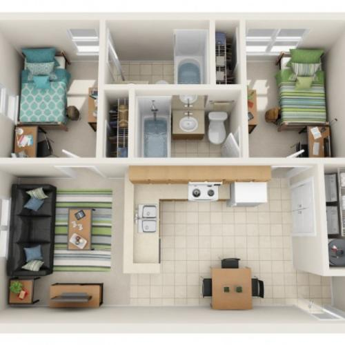 2 Bedroom Standard Floor Plan