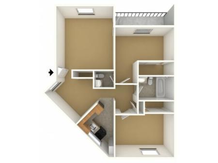 2 Bedroom 1.5 Bathroom