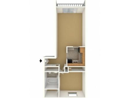 1 Bedroom 1 Bathroom A