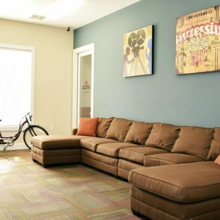tv room in durham apartment nc