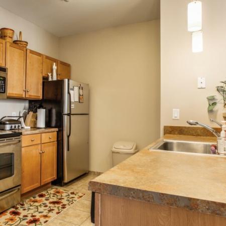 kitchen at osu off campus housing complex