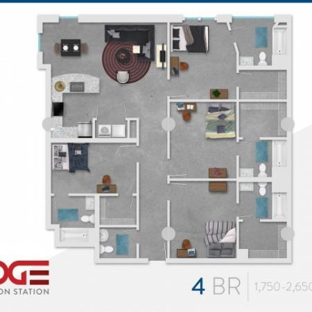 4 Bedroom Floor Plan | Vine 324