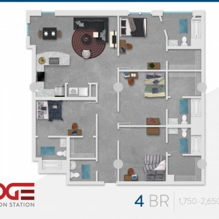 4 Bedroom Floor Plan | Vine 324