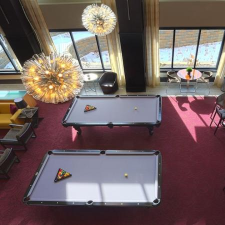 Billiards Tables and Lounge Space in Clubhouse | Modera 44