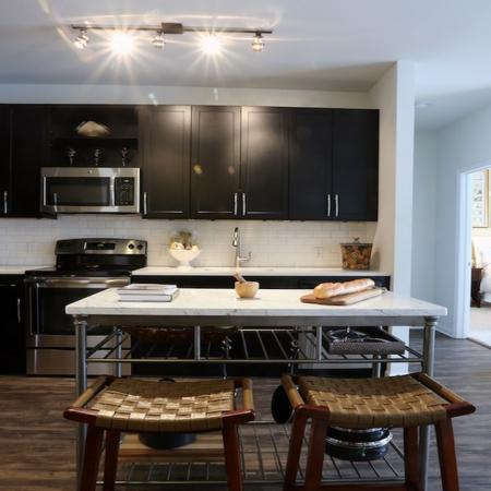 Open Layout Kitchen and Living Area | Modera 44