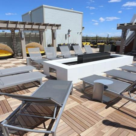 Fire Pit and Outdoor Seating on Rooftop Deck | Modera 44