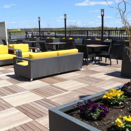 Seating Area on Rooftop Deck | Modera 44