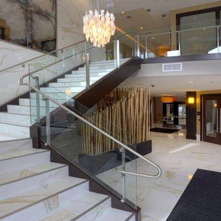 Two-Story Lobby and Leasing Center | Modera 44