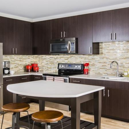 Custom Cabinetry and Kitchen Island | Apartments for rent in Fairfax, VA | Modera Fairfax Ridge