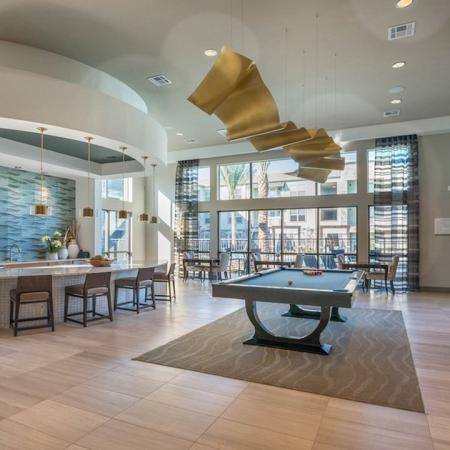 Expansive Clubhouse with Pool Table and Kitchen | Modera Energy Corridor