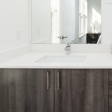 Luxury Bathrooms with Quartz Counters | Modera Hopkinton
