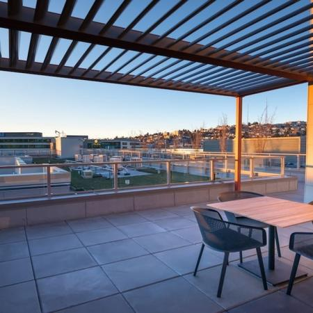 Rooftop Lounge with City Views | Modera South Lake Union