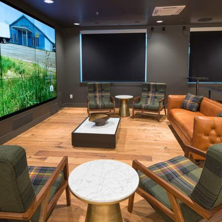 Gaming Room with Nine Television Screens| Modera South Lake Union