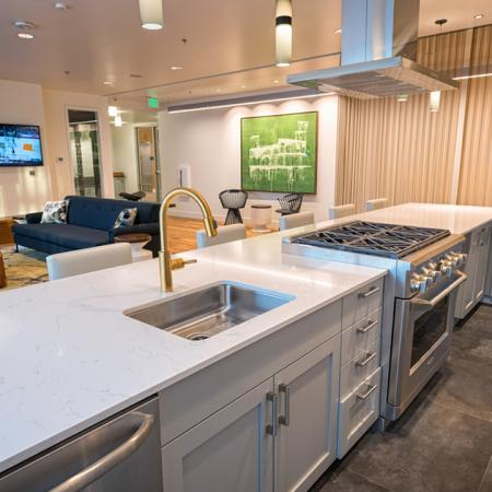 Resident Kitchen in our Clubhouse | Modera South Lake Union