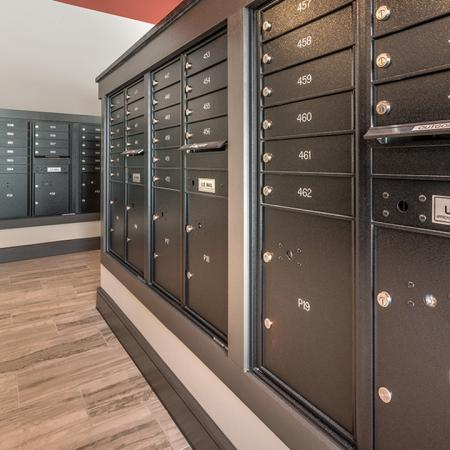 Mailboxes with 24-Hour Package Pick-Up | Modera Near the Galleria