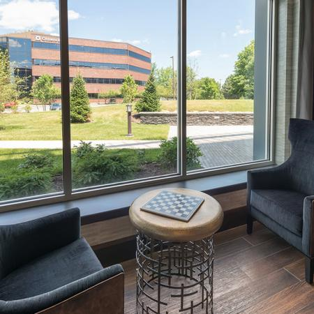 Oversized Windows in our Clubhouse | Modera Medford