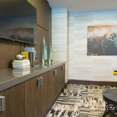 Resident Lounge with Flat Screen Television | Modera Medford