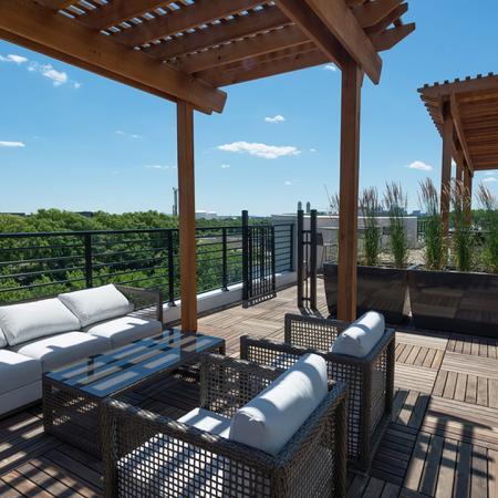 Social Area on Rooftop Deck | Modera Medford