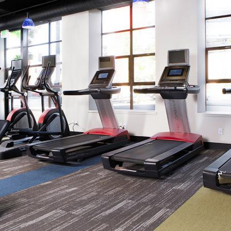 Treadmills in our Fitness Studio | Skye at Belltown