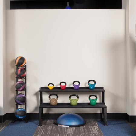 Kettle Balls and Medicine Balls in our Fitness Studio | Skye at Belltown