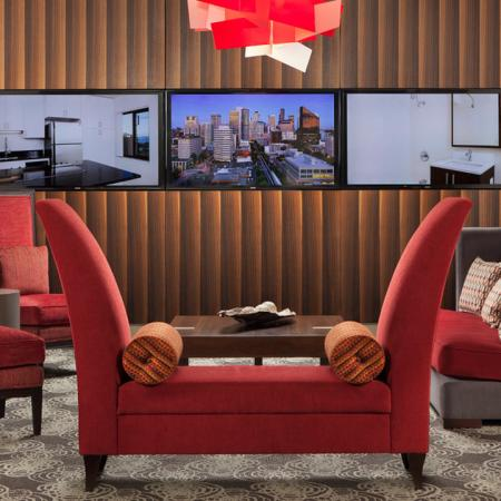 Comfy Sofas and Flat Screen Televisions in our Lounge | Skye at Belltown