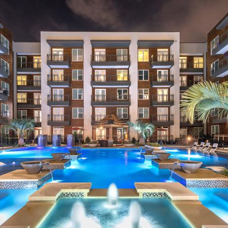 Resort-Inspired Pool with Tanning Ledge | Modera Near the Galleria