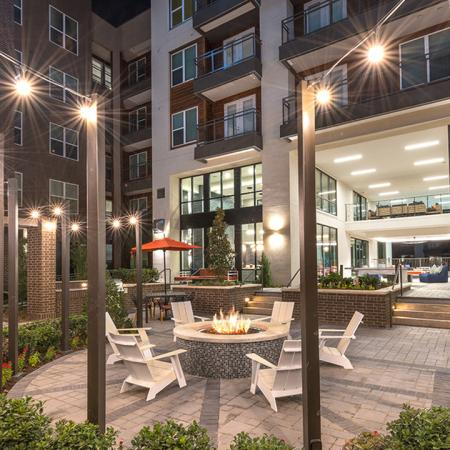 Cozy Outdoor Fire Pit | Modera Near the Galleria