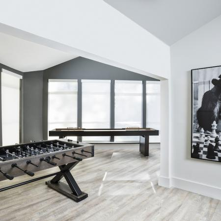 Resident Lounge with Foosball and Shuffleboard | Alister Columbia