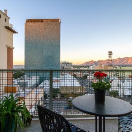 Spacious Apartment Balcony | One East Tucson