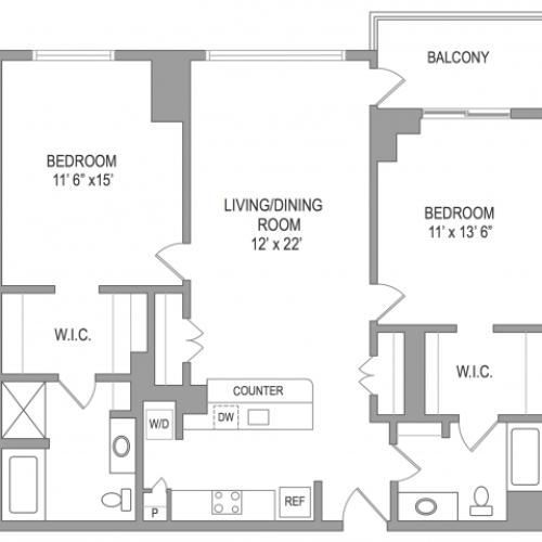 2 Bedroom Arlington Virginia Apartments | Birchwood 2