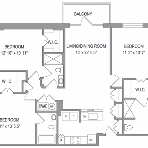 3 Bedroom Apartments in Arlington VA | Henderson Park 1