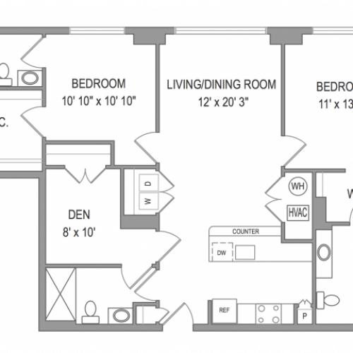 3 Bedroom Apartments in Arlington VA | Henderson Park 2