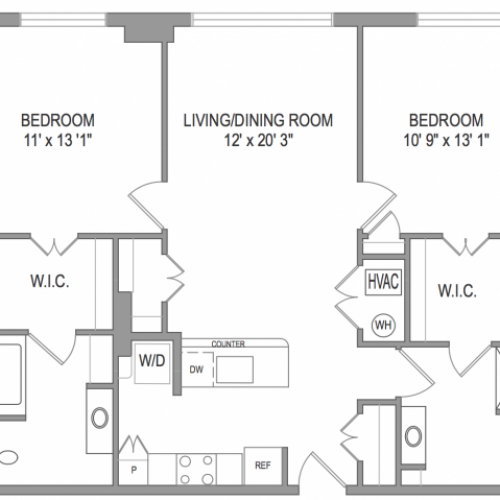 Arlington Apartments | Thomas Court | Floorplan 2