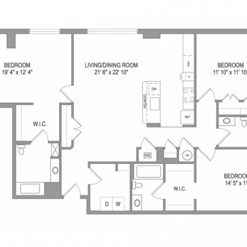 Arlington Apartments | Thomas Court | Floorplan 9
