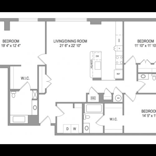 Arlington Apartments | Thomas Court | Floorplan 9