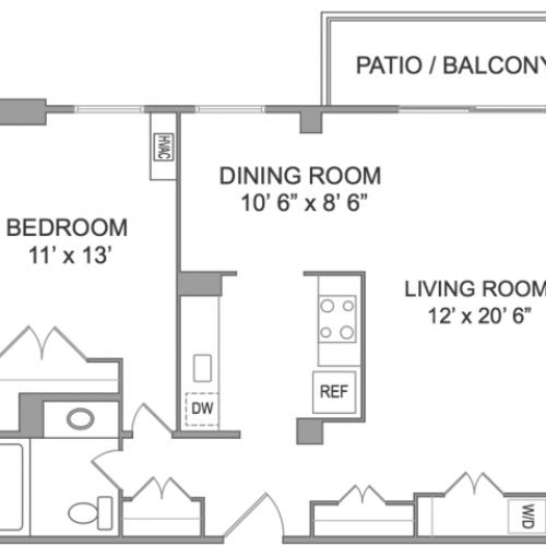 1 Bedroom Apts in Arlington VA | Wildwood Park 4