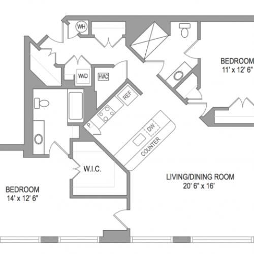 2 Bedroom Arlington Virginia Apartments | Birchwood