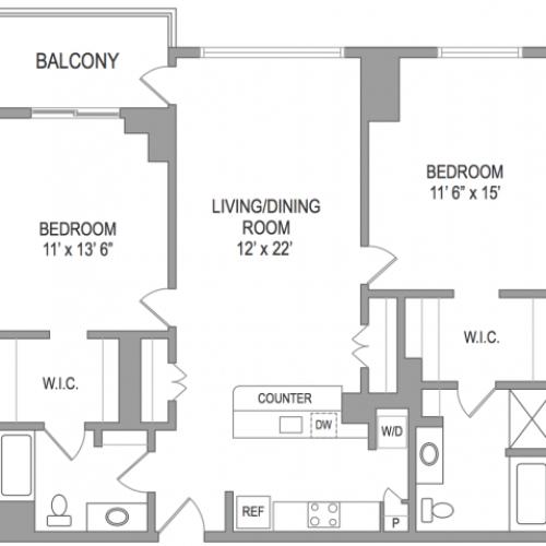 2 Bedroom Arlington Virginia Apartments | Birchwood 4