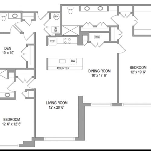 3 Bedroom Arlington Virginia Apartments | Birchwood