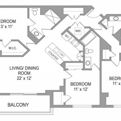 3 Bedroom Arlington Virginia Apartments | Birchwood 1