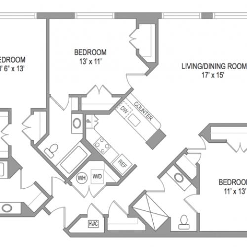 3 Bedroom Arlington Virginia Apartments | Birchwood 2